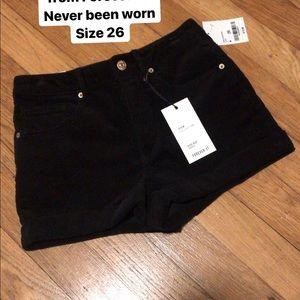 Corduroy high rise shorts